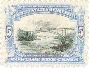 1901 5c Pan-American Exposition: Bridge at Niagara Falls