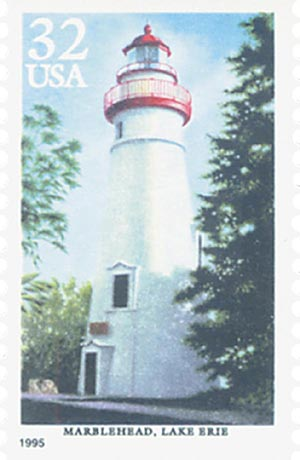 1995 32c Great Lakes Lighthouses: Marblehead, Lake Erie