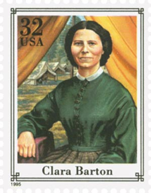 1995 32c Civil War: Clara Barton