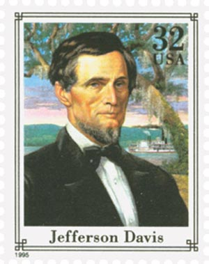 1995 32c Civil War: Jefferson Davis