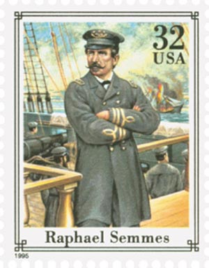 1995 32c Civil War: Raphael Semmes