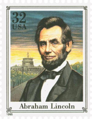 1995 32c Abraham Lincoln,single