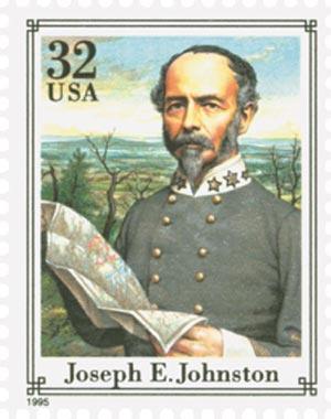 1995 32c Civil War: Joseph E. Johnston
