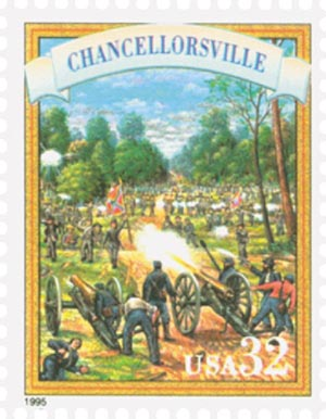 1995 32c Civil War: Chancellorsville