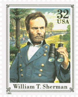 1995 32c Civil War: William T. Sherman