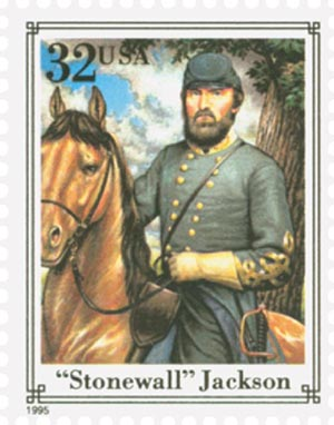 1995 32c Stonewall Jackson,single