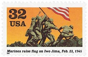 1995 32c World War II: Marines Raise Flag on Iwo Jima