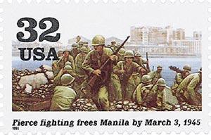 1995 32c World War II: Fierce Fighting Frees Manilla