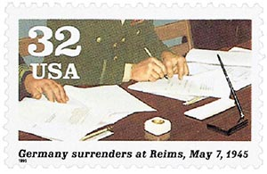 1995 32c World War II: Germany Surrenders at Reims
