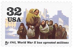 1995 32c World War II: World War II has Uprooted Millions