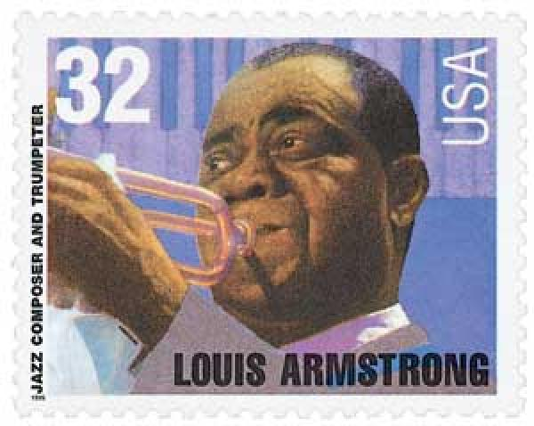 1995 32c Jazz Musicians: Louis Armstrong