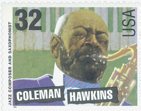 1995 32c Jazz Musicians: Coleman Hawkins