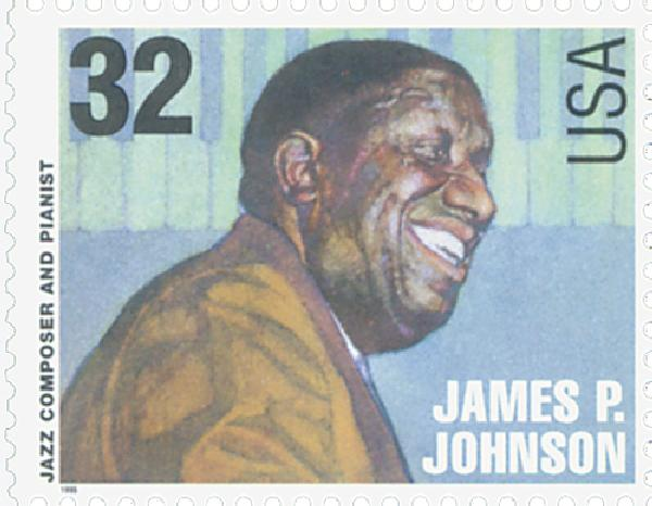 1995 32c Jazz Musicians: James P. Johnson