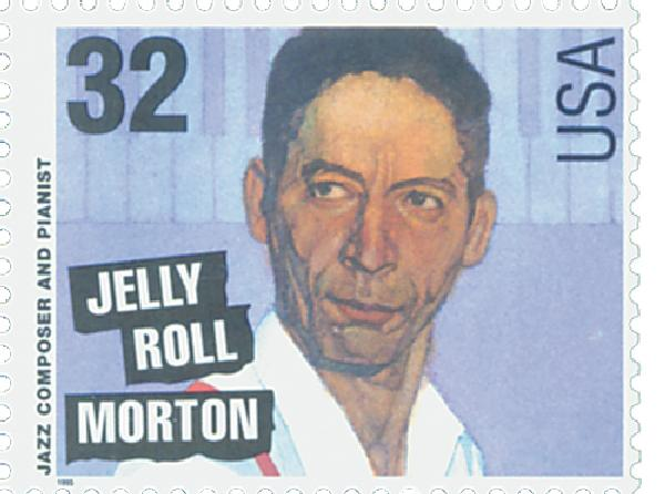 1995 32c Jazz Musicians: Jelly Roll Morton