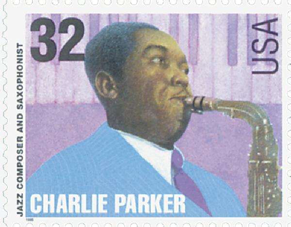 1995 32c Jazz Musicians: Charlie Parker