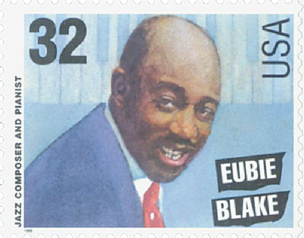 1995 32c Jazz Musicians: Eubie Blake