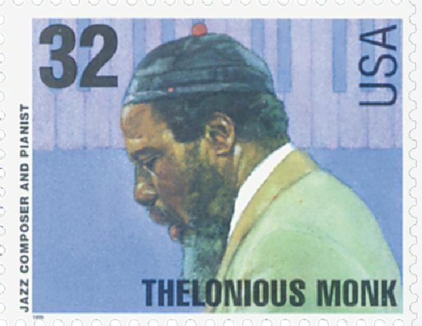 1995 32c Jazz Musicians: Thelonious Monk