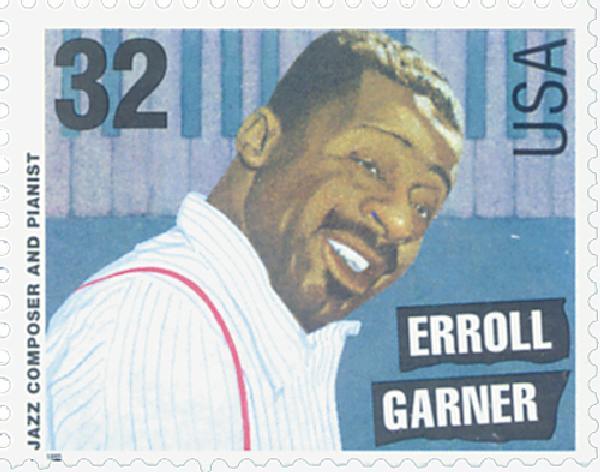 1995 32c Jazz Musicians: Erroll Garner
