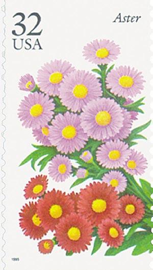 1995 32c Fall Garden Flowers: Aster