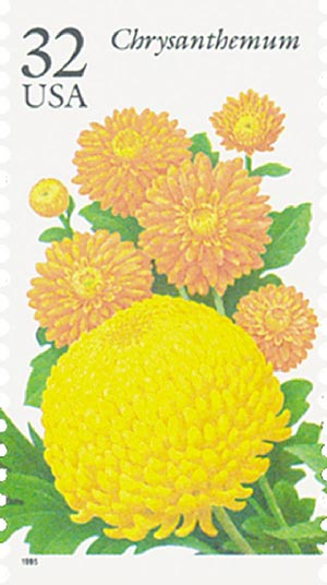 1995 32c Fall Garden Flowers: Chrysanthemum