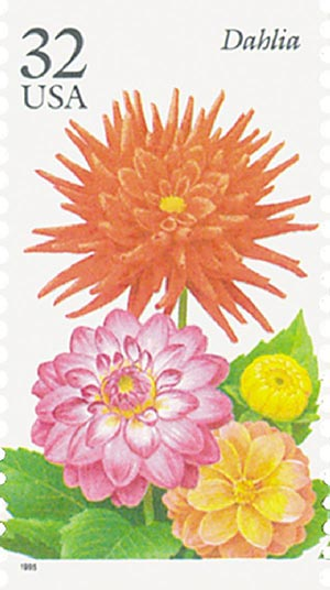 1995 32c Fall Garden Flowers: Dahlia