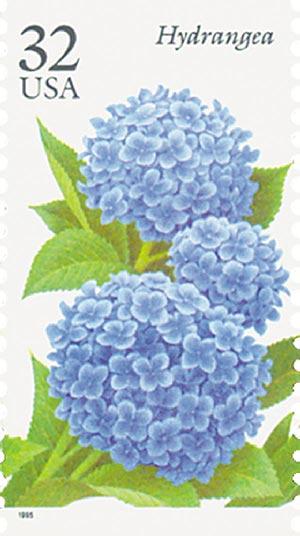 1995 32c Fall Garden Flowers: Hydrangea