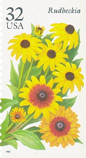 1995 32c Fall Garden Flowers: Rudbeckia
