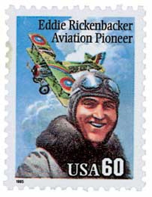 1995 60c Eddie Rickenbacker