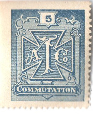 1888 5c bl,perf 13,'Atlantic tel'