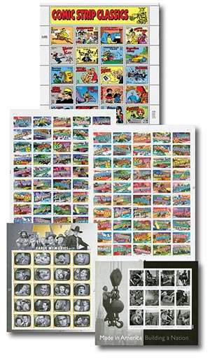1995-2013 Modern Stamp Sheets, set of 5