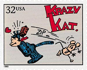 1995 32c Comic Strip Classics: Krazy Kat