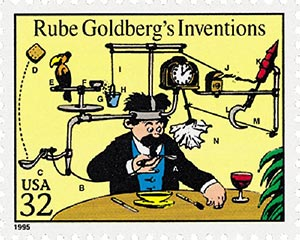 1995 32c 'Rube Goldberg's Inventions'
