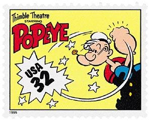1995 32c Comic Strip Classics: Popeye