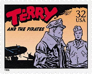 1995 32c 'Terry and the Pirates'
