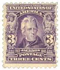 1903 3c Jackson, purple