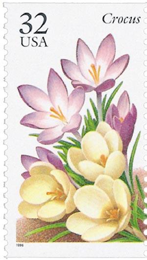 1996 32c Winter Garden Flowers: Crocus