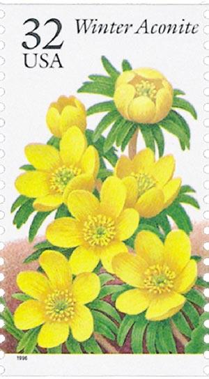 1996 32c Winter Garden Flowers: Winter Aconite