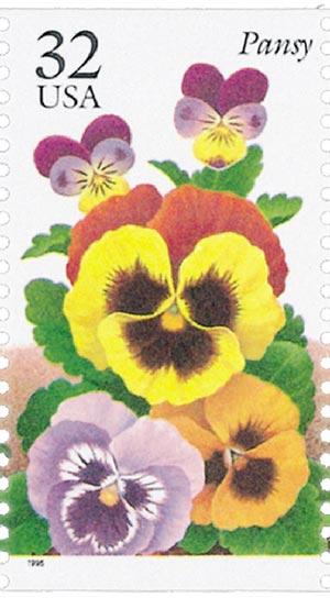 1996 32c Winter Garden Flowers: Pansy