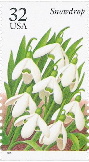 1996 32c Winter Garden Flowers: Snowdrop