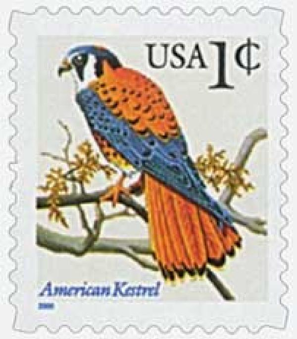 2000 1c American Kestrel, blue inscription