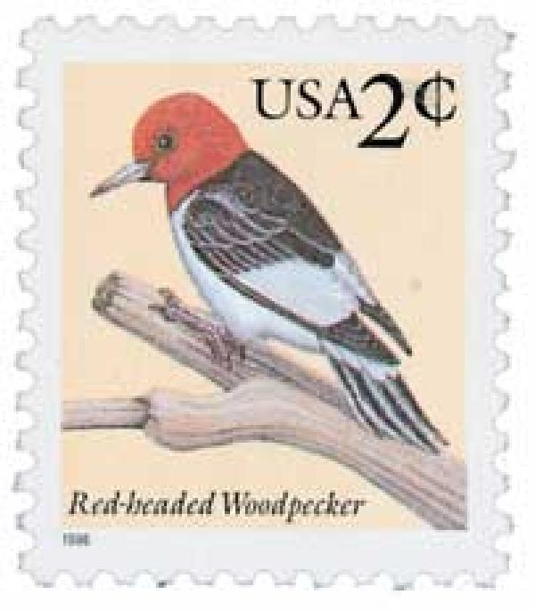 1996 2c Red-headed Woodpecker