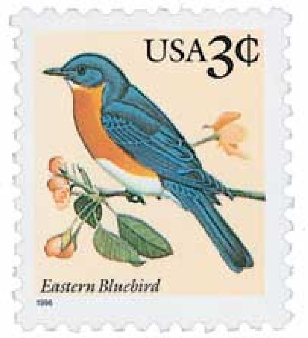 1996 3c Eastern Bluebird