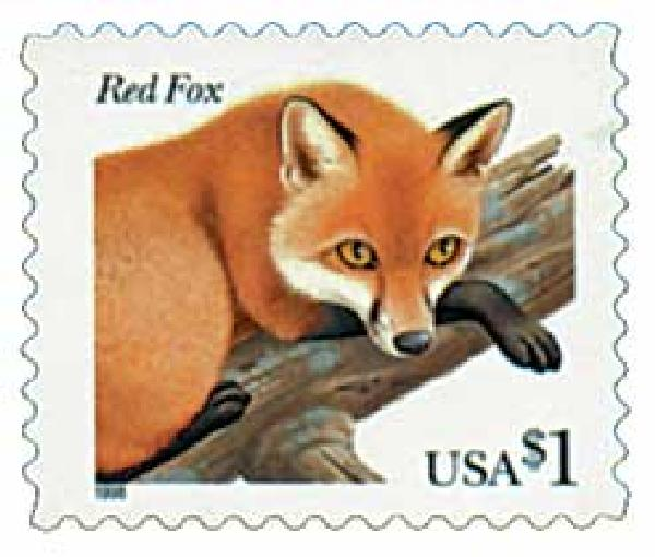 1998 $1.00 Red Fox {Flora/Fauna Series}