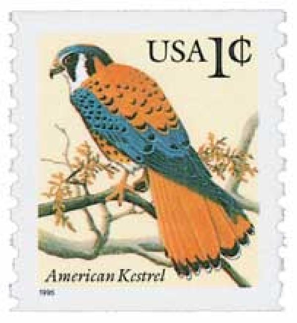 1996 1c American Kestrel, coil