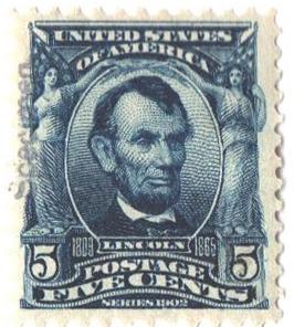 1902 5c blue