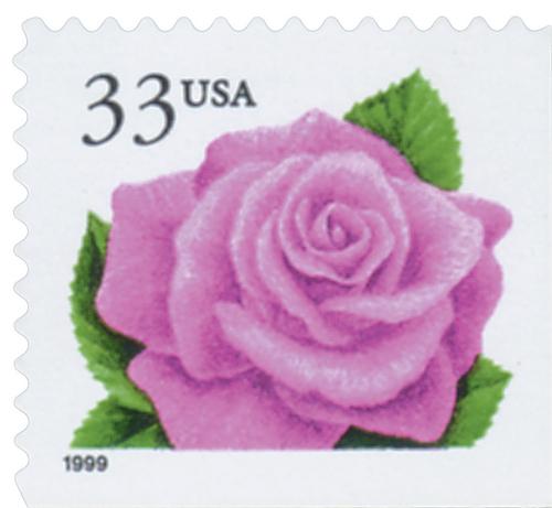 1999 33c Coral Pink Rose