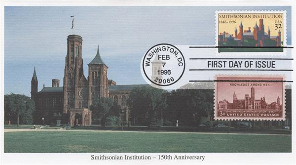 1996 32c & 3c Smithsonian Institution