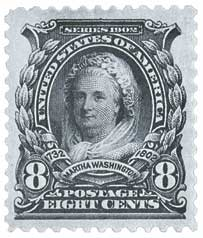 U.S. #306 was the first U.S. stamp to honor a woman.