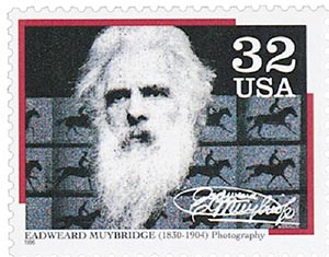 1996 32c Pioneers of Communication: Eadweard Muybridge
