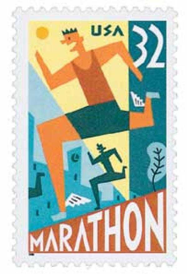 1996 Marathon stamp